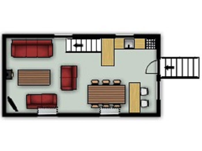 Gull Cottage First Floor Floorplan at Robin Hill Farm Cottages