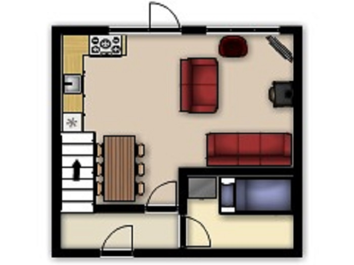 Heron Cottage Ground Floor Floorplan at Robin Hill Farm Cottages