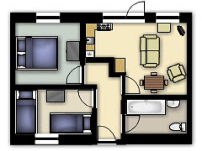 Kingfisher Cottage Floorplan at Robin Hill Farm Cottages