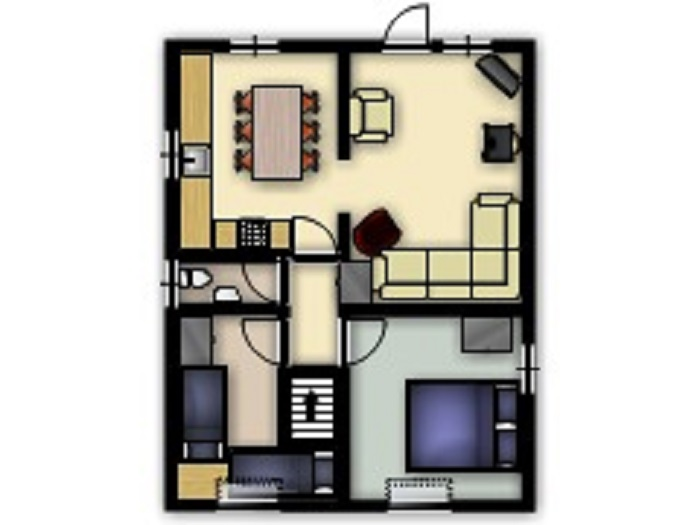 Puffin Cottage First Floor Floorplan at Robin Hill Farm Cottages