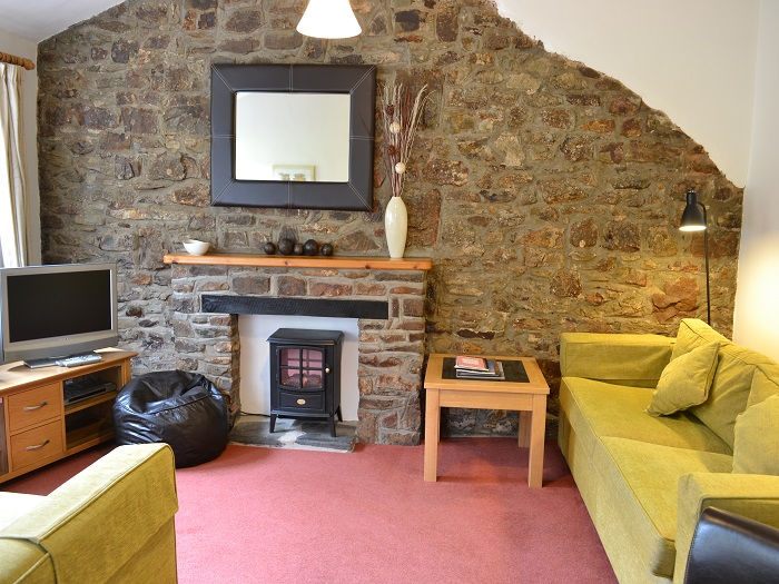 Puffin Cottage Lounge at Robin Hill Farm Cottages
