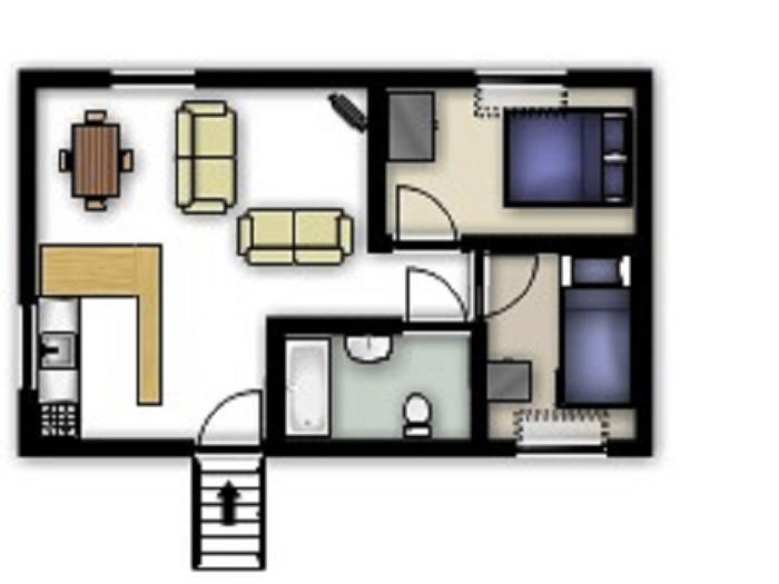 Swallow Cottage Floorplan at Robin Hill Farm Cottages