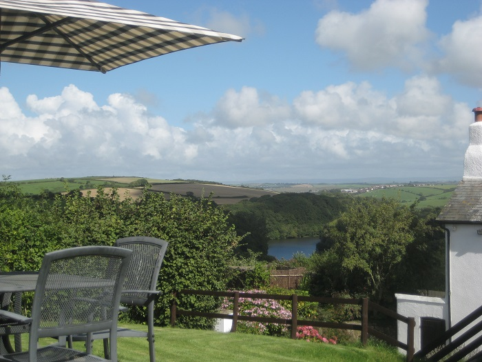 View from Gull Cottage Garden at Robin Hill Farm Cottages