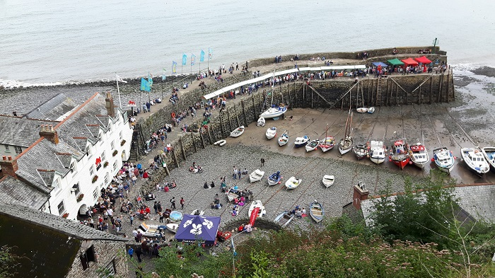 Clovelly Harbour on Lobster and Crab Feast day