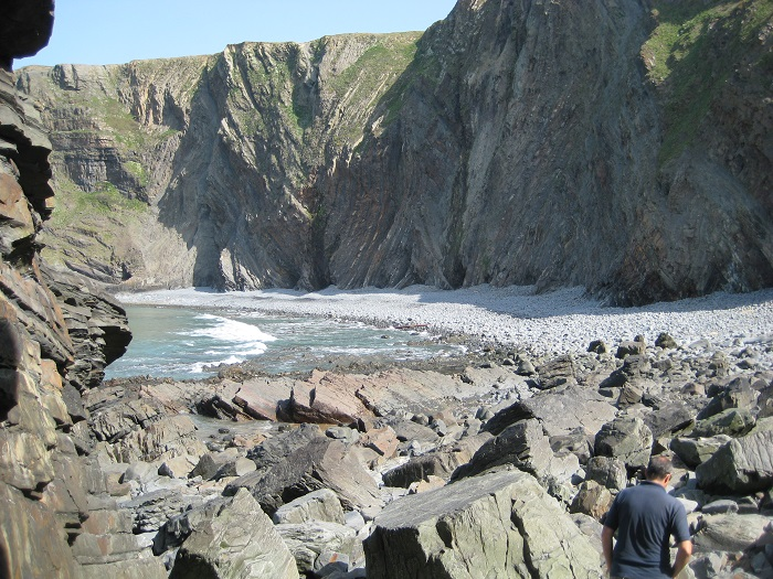Folded Cliffs at Hartland Quay North Devon