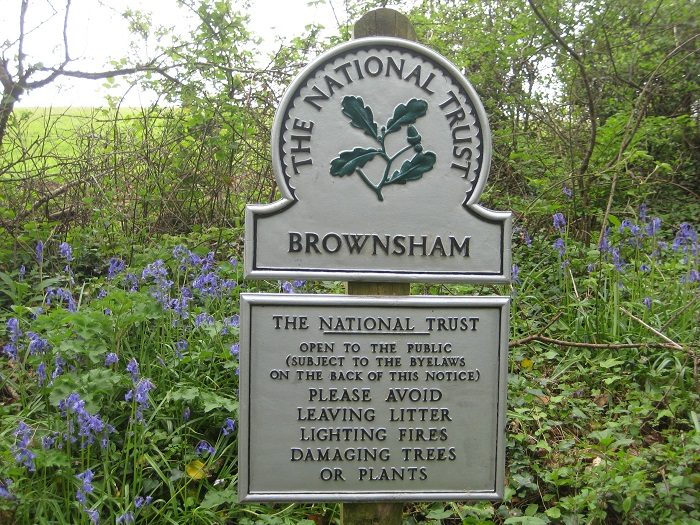 Brownsham Wood National Trust car park