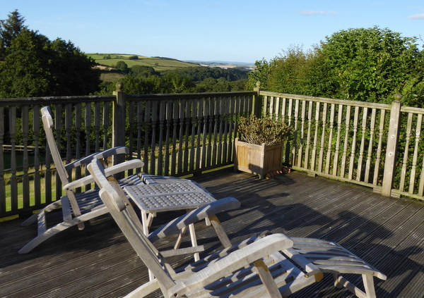 Soak up the view over Jennetts Valley at Robin Hill Farm Cottages North Devon