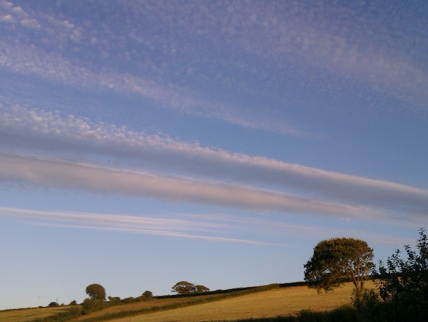 Wide open skies over Robin Hill Farm Cottages North Devon